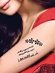 Tatuaggi adesivi - Altro Da donna/Girl/Adulto/Teen - #(5) - Modello - di Carta - #(20.5CM*10CM) - Nero - Fantasia/Waterproof