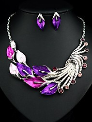 Women's Fashion Generous Petal Jewelry Sets: Necklace And Earrings(More Colors)
