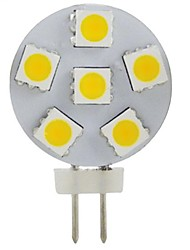 Spot Décorative Blanc Chaud JUXIANG G4 2 W 6 SMD 5050 200 LM 2800-3200 K DC 12 V
