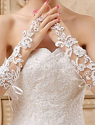 Fingerless Glove Lace/Voile Bridal Gloves