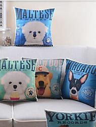 juego de 5 vívida algodón patrón de perro / ropa cubierta decorativa almohada