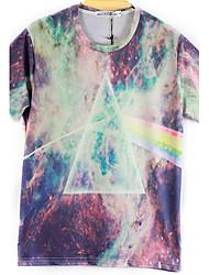 Juicy Peach Men's Pattern Print Short Sleeve T-Shirt