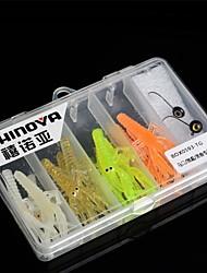 Small Lead Head Hook Lifelike Soft Shrimp Lure Combination Set