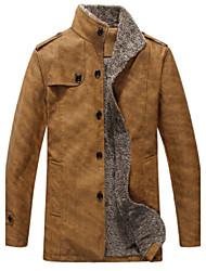 Dibai Men's Fashion Leisure Fitted Jacket Coat