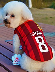 Fashionable Spanish Football Team Pattern Vest for Pet Dogs(Assorted Sizes)