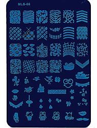 Nail Art тиснения изображений Плиты маникюр шаблон новая тенденция гвоздь для ежедневных ногтей DIY маникюра