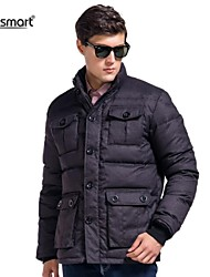 Lesmart Men's Thick Warm Down Jacket Collar Multi Pocket