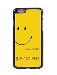 caso de telefone personalizado - tenha um bom dia caso design de metal para iphone 6 mais