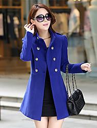 moda inverno causale cappotto di lana doppio petto delle donne qinshang