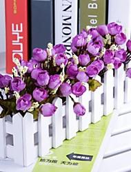"""11.8 """"l * 5.1"""" h estilo rural rosas multicolor de otoño en la valla de blanco (colores surtidos)"""