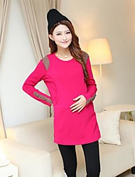 Women's Round Collar With Velvet  Thickened  Maternity Shirt