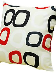 pequeña plaza 100% algodón funda de almohada decorativa