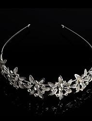 chapado en plata de cristal de la moda elegante tiara nupcial de la cabeza
