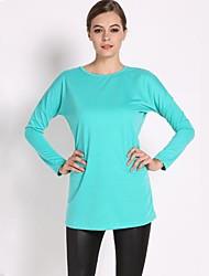 de corte informal suéter suéter flojo de la camiseta de las mujeres