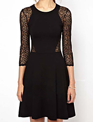 Sexy Lace 3/4 Sleeve Bodycon Dress