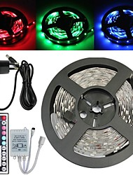 Waterproof 5M 150X5050 SMD RGB LED Strip Light and 44Key Remote Controller and 3A US Power Supply (AC110-240V)