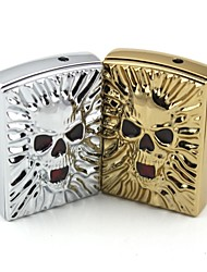 Personalized Engraving Large skull  Metal Electronic Lighter