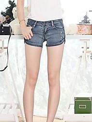 pantalones cortos de mezclilla de remaches pantalones de las mujeres