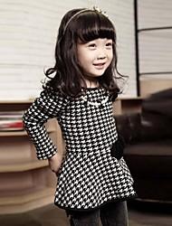 encantadora cheque vestido de princesa de la moda de chica
