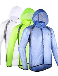 Arsuxeo Cycling Jacket Men's Bike Raincoat/PonchoWaterproof Breathable Windproof Anatomic Design Static-free Lightweight Materials
