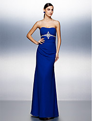 TS Couture® Formal Evening Dress Plus Size / Petite Sheath / Column Strapless Floor-length Chiffon with Beading / Draping