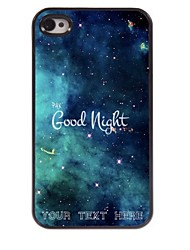 Personalized Phone Case - Good Night Design Metal Case for iPhone 4/4S