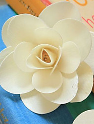 Qihang Veneer Dried Flower Beige Rose Photography Props(1 PCS)
