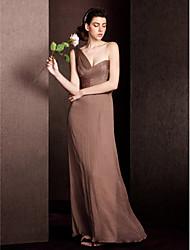 Vestido de Madrinha Tubo/Coluna Assimétrico Longo Seda