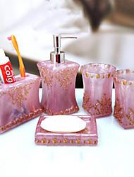 banho conjunto de acessórios, porta-escovas estilo contemporâneo, com dentes ajuste 5 peça