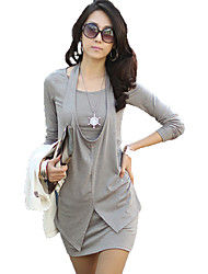 color sólido de dos piezas de las mujeres pandora como el vestido