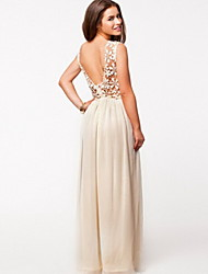 Q.S.H Women's Elegant Lace Cut Out Dress