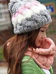 Damenmode Perle Bogen warme Strick Hut