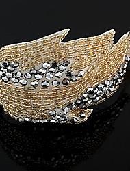 el pelo coreano de la manera elegante de la flor de la perla barrettes color al azar