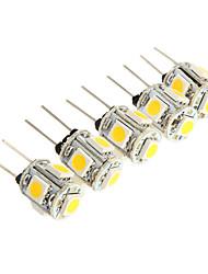 g4 2.5w 5 * cms 5050 150-180lm 3000k lumière conduit ampoule pour la lumière voiture de lecture (12V DC)
