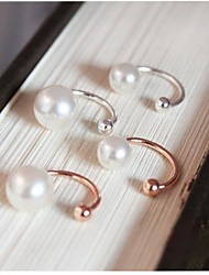 Women's Ear Cuffs Costume Jewelry Pearl Imitation Pearl Gold Plated Jewelry For Wedding Party Daily Casual