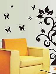 Wall Stickers Wall Decals, Artistic Flower Vine PVC Wall Stickers