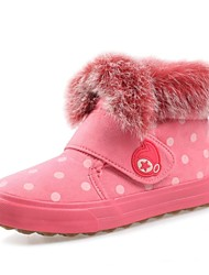 Girl's Boots Fall Winter Snow Boots Faux Fur Faux Suede Casual Brown Pink