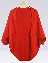moda batwing casaco manga malhas das mulheres delargent