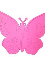 desenhos animados pot silicone forma de borboleta esteira, cozinhar placemat