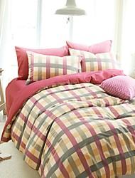 h&engrossar algodão lixado capa de tecido acolchoado c ® set 4 peças verificador estilo noruega