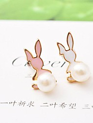 Cute Alloy Pearl Fashion Earrings(More Colors)