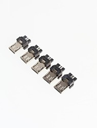 micro 5p mini-usb masculino (5pcs)
