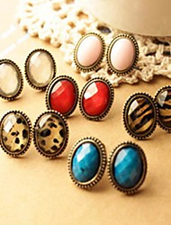 Women's High Grade Vintage Sexy Oval Stud Earrings(More Colors)