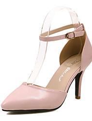 Bombas Daisha ™ couro salto agulha Sapato de bico fino tira no tornozelo cores açúcar das mulheres com sapatos de fivela (mais cores)