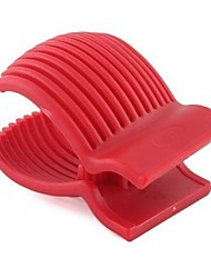 Red Tomato Holder Slicer with Knife