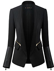 Women's long sleeve skin pure color OL fashion suit jacket coat