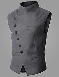 OUER Men's Casual Korea Style Slim Vest Coat