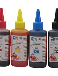 BLOOM® Dye Ink 100ML Compatible Refill Ink For HP All Inkjet Printer For HP Dedicated CISS  (4 color 1 lot)