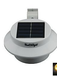 youoklight® yl0415 0.3W étanche 40lm 3-lampe led blanc chaud de mur de jardin à énergie solaire - blanc