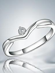 Ringe Hochzeit / Party / Alltag Schmuck Aleación Damen Statementringe7 / 8 Silber